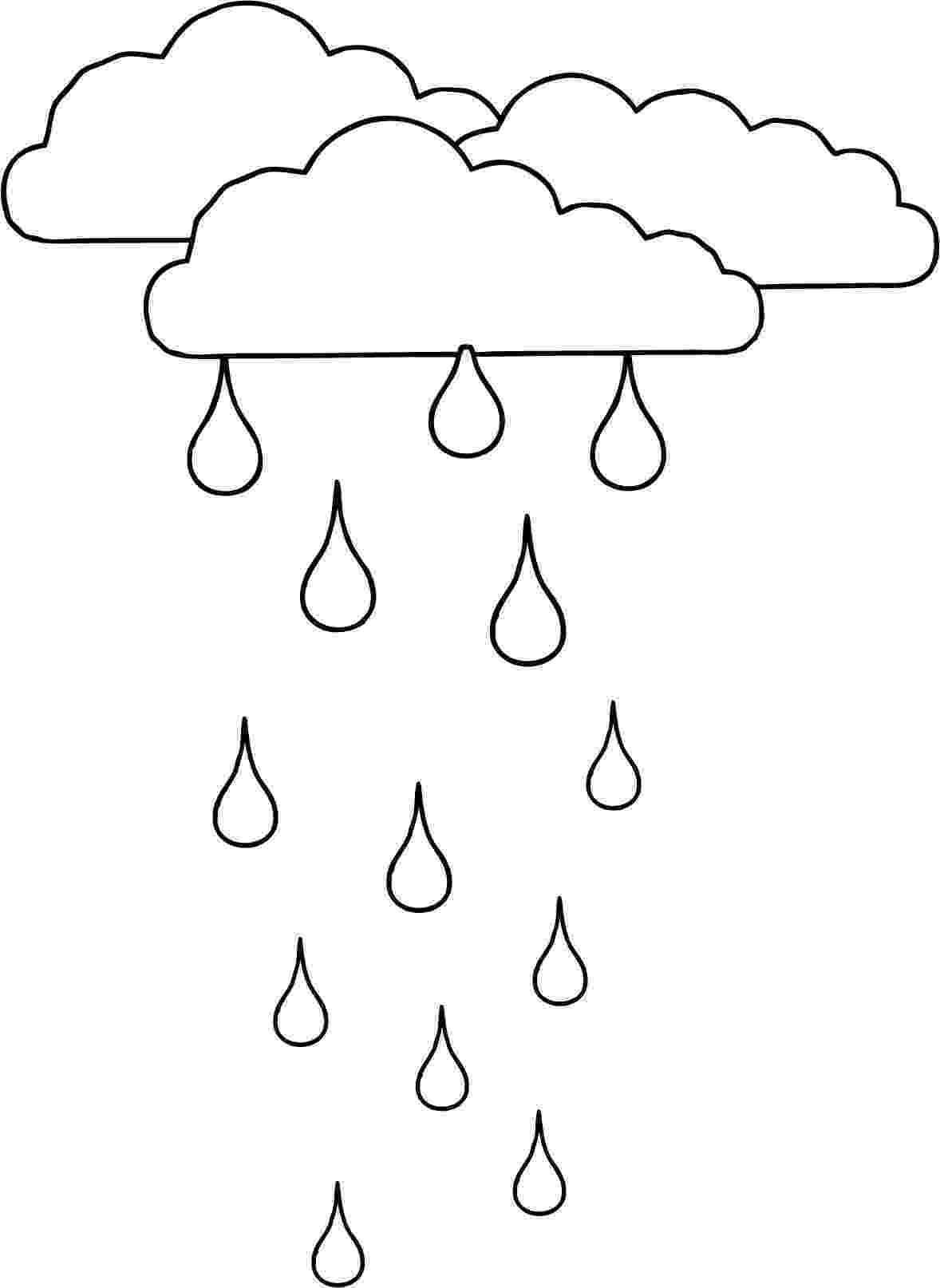 rain coloring page season and weather coloring pages momjunction coloring page rain