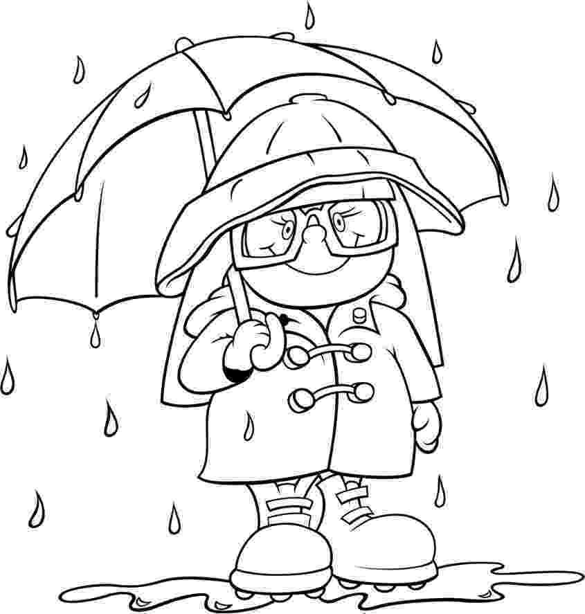 rain coloring page top 10 free printable rain coloring pages online coloring rain page