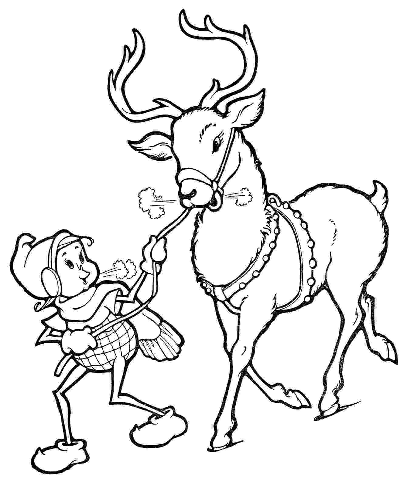 raindeer sketch christmas line art elf with reindeer the graphics fairy sketch raindeer