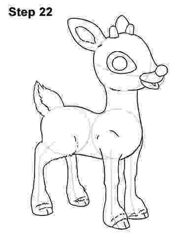 raindeer sketch draw reindeer step by step drawing sheets added by dawn raindeer sketch