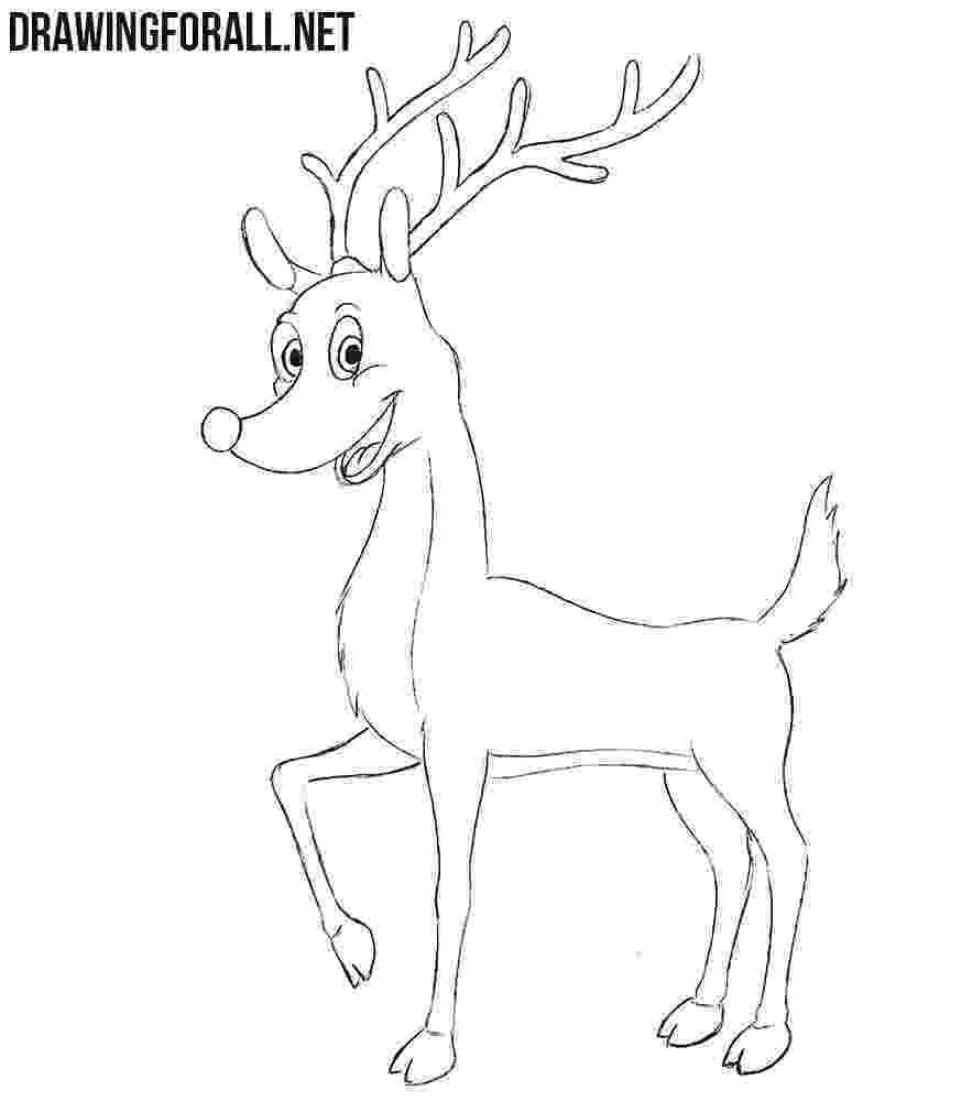 raindeer sketch free printable reindeer coloring pages for kids raindeer sketch