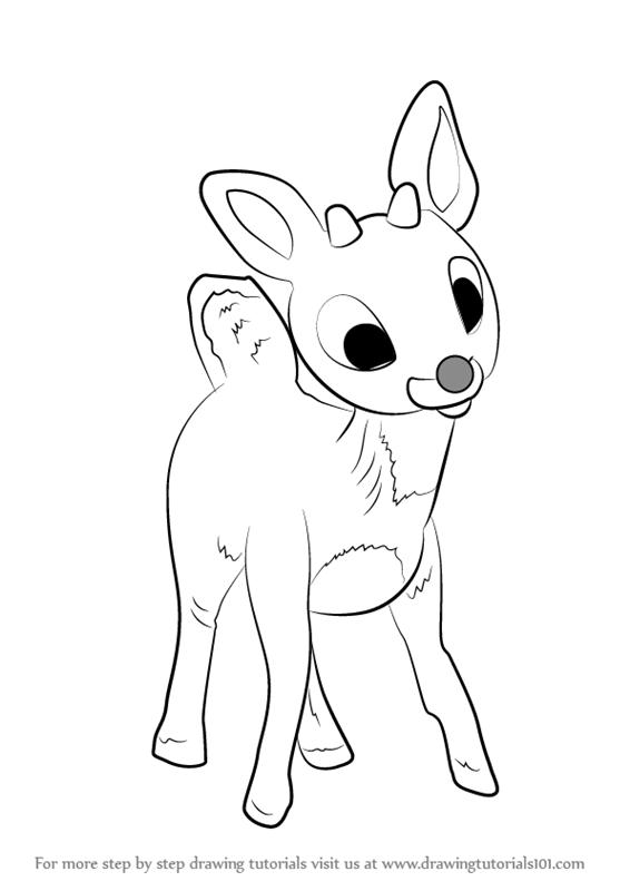 raindeer sketch reindeer coloring child coloring sketch raindeer