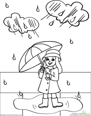 rainy day coloring pages for preschoolers windy and rainy spring coloring page for kids seasons pages for preschoolers day rainy coloring