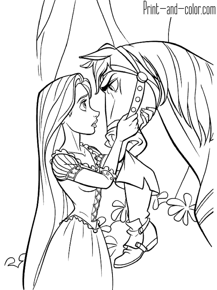 rapunzel pictures to print and colour disney39s tangled coloring pages disneyclipscom and colour print rapunzel pictures to