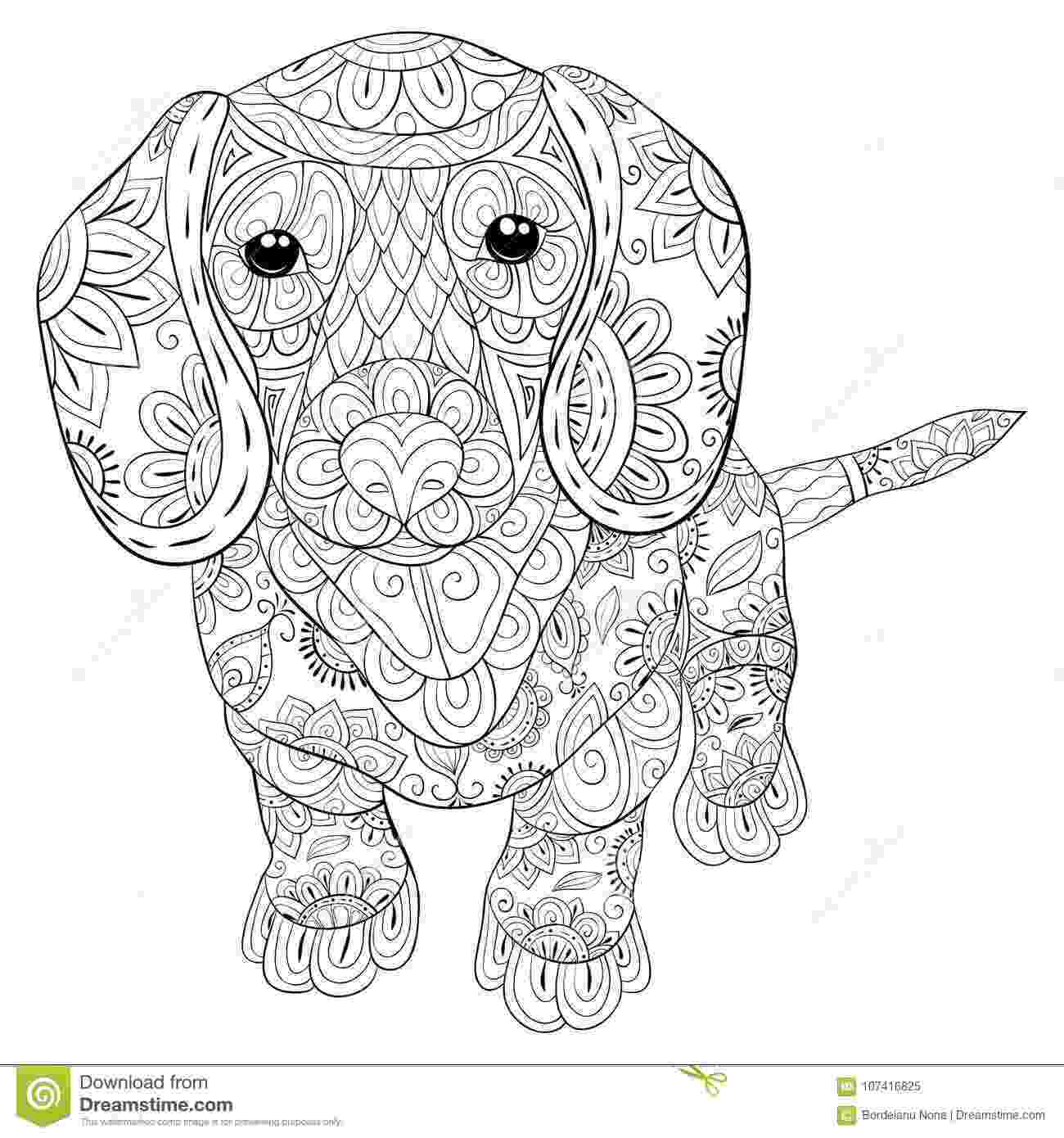 real animal coloring pages adult coloring page a cute isolated dog for relaxingzen coloring pages animal real