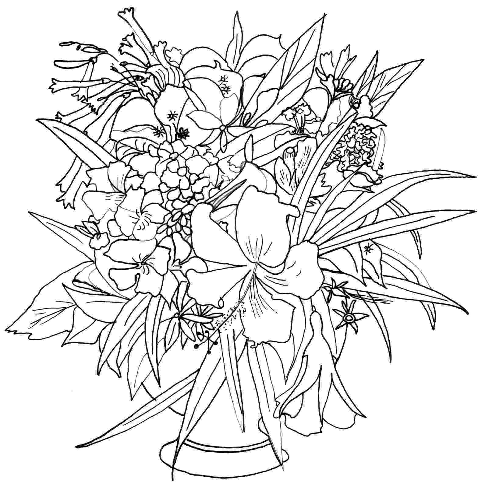 realistic flower coloring pages albumarchiv realistic flower drawing drawings colorful coloring pages flower realistic