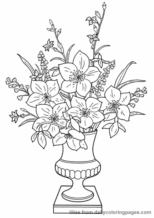 realistic flower coloring pages flower coloring pages realistic flower coloring pages 11 coloring realistic pages flower