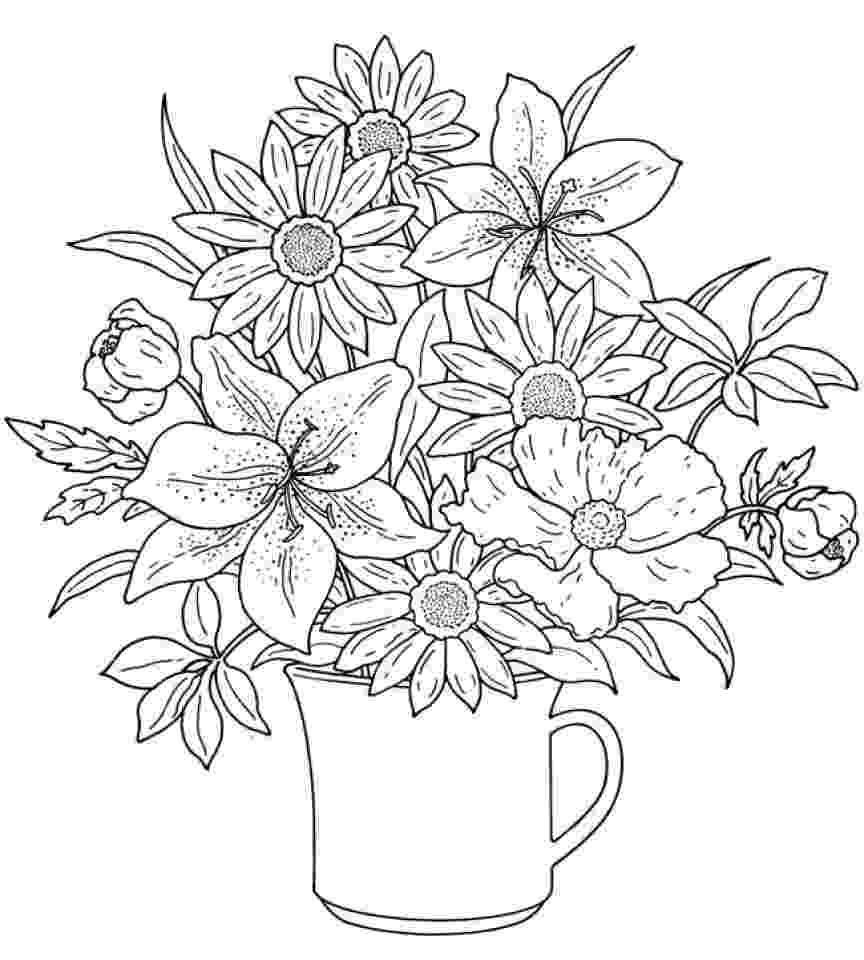 realistic flower coloring pages get this realistic flowers coloring pages for adults 7dg40 coloring flower pages realistic