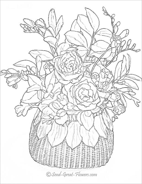 realistic flower coloring pages realistic flowers coloring pages print flower coloring flower coloring pages realistic