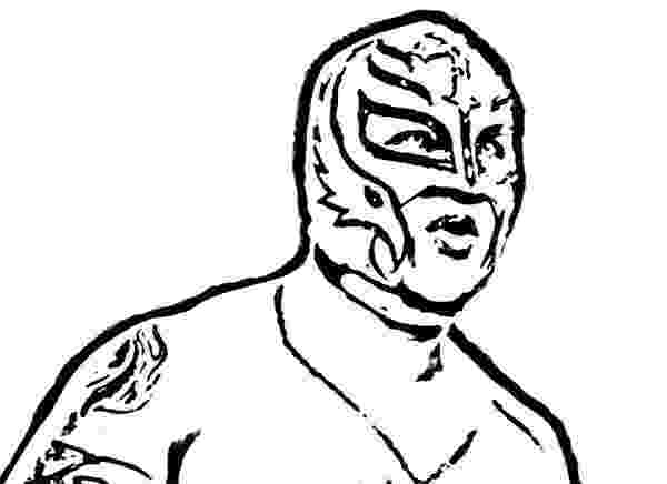 rey mysterio coloring pages wwe wrestling contender rey mysterio coloring page color coloring rey mysterio pages