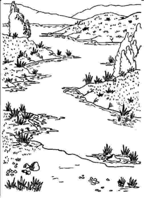 river coloring pages printable nature coloring pages river printable pages coloring