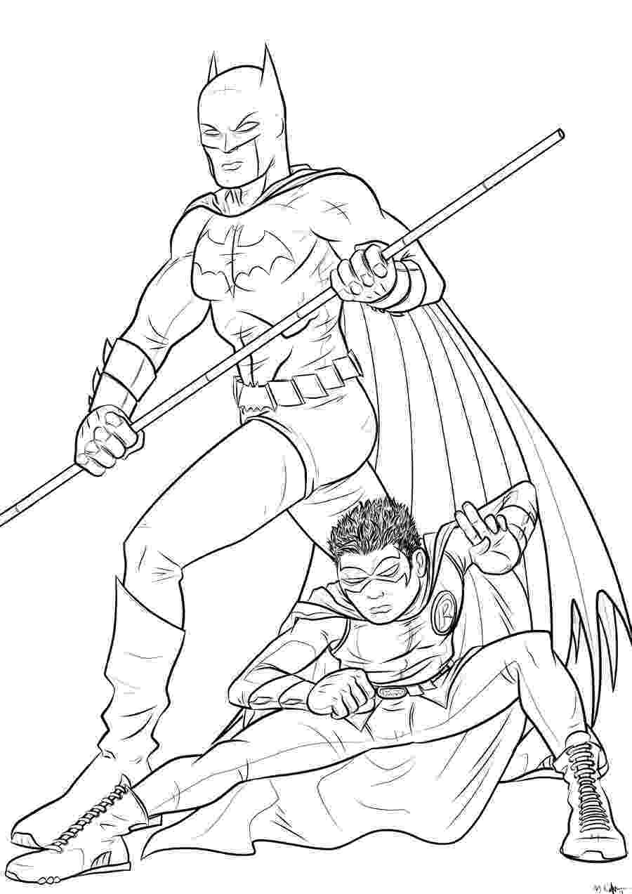 robin colouring batman and robin coloring pages to download and print for free colouring robin 1 1