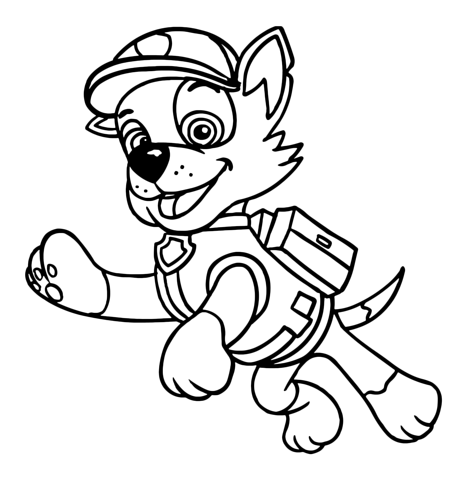 rocky from paw patrol paw patrol rocky recycler dog in action with his vehicle paw from patrol rocky