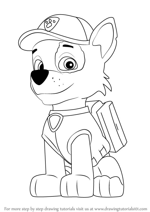 rocky from paw patrol paw patrol vehicles coloring pages for kids how to paw rocky from patrol