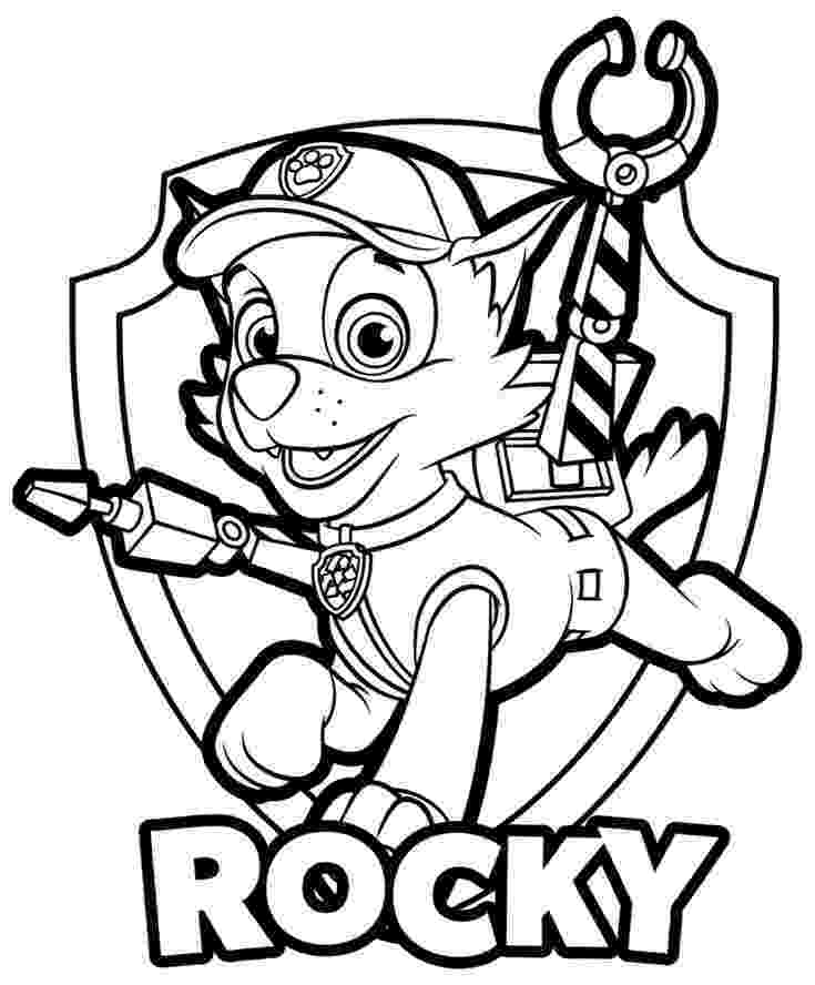 rocky from paw patrol rocky paw patrol coloring pages at getcoloringscom free from patrol rocky paw