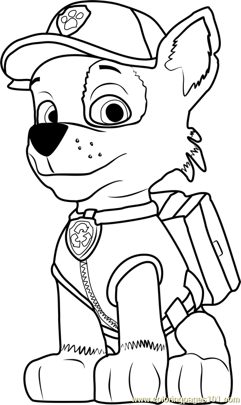 rocky from paw patrol rocky paw patrol coloring pages at getcoloringscom free rocky patrol from paw
