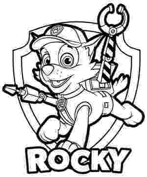 rocky from paw patrol rocky recycler pup paw patrol dog coloring page kids patrol from paw rocky
