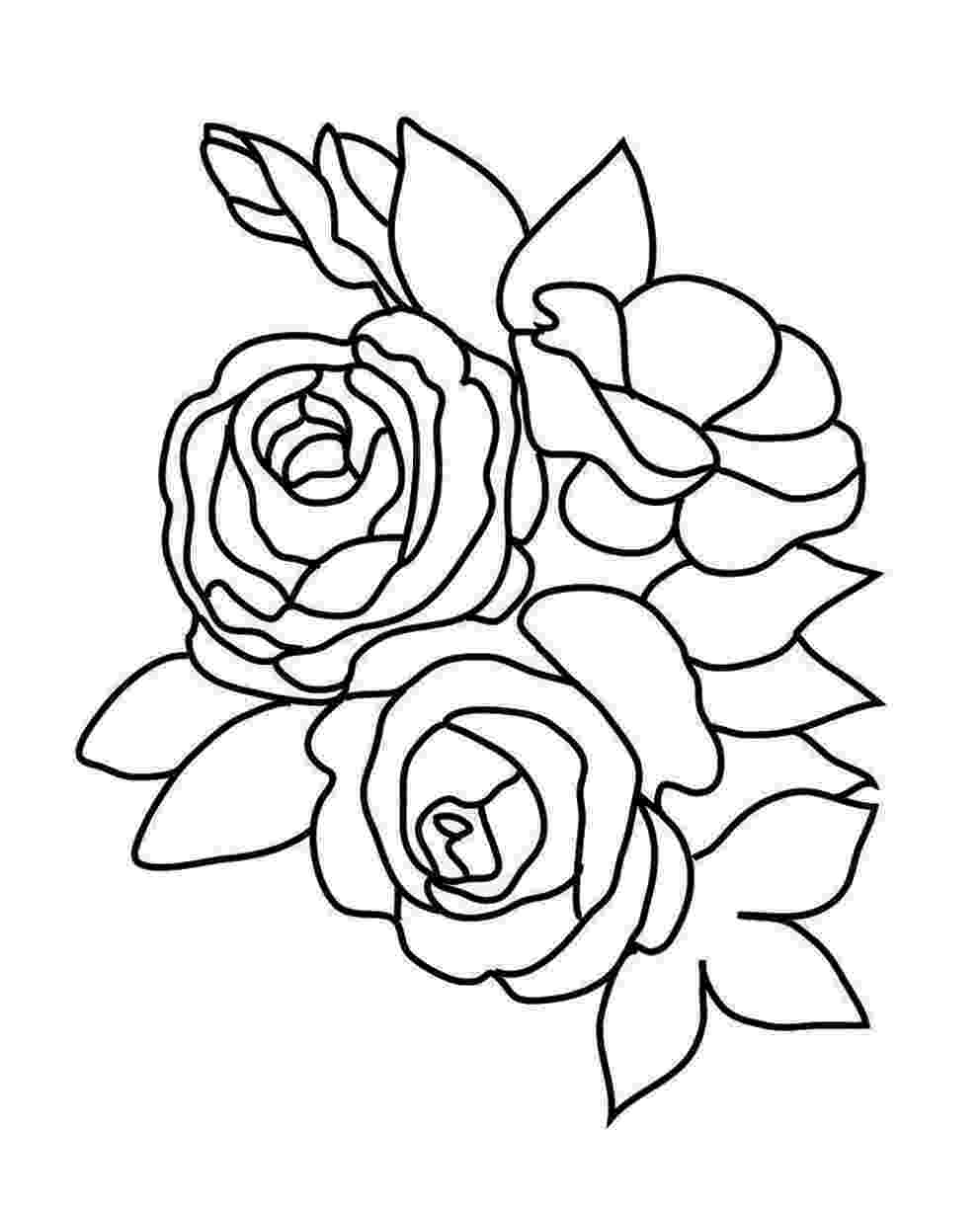 rose coloring sheets roses coloring pages getcoloringpagescom sheets rose coloring 1 1