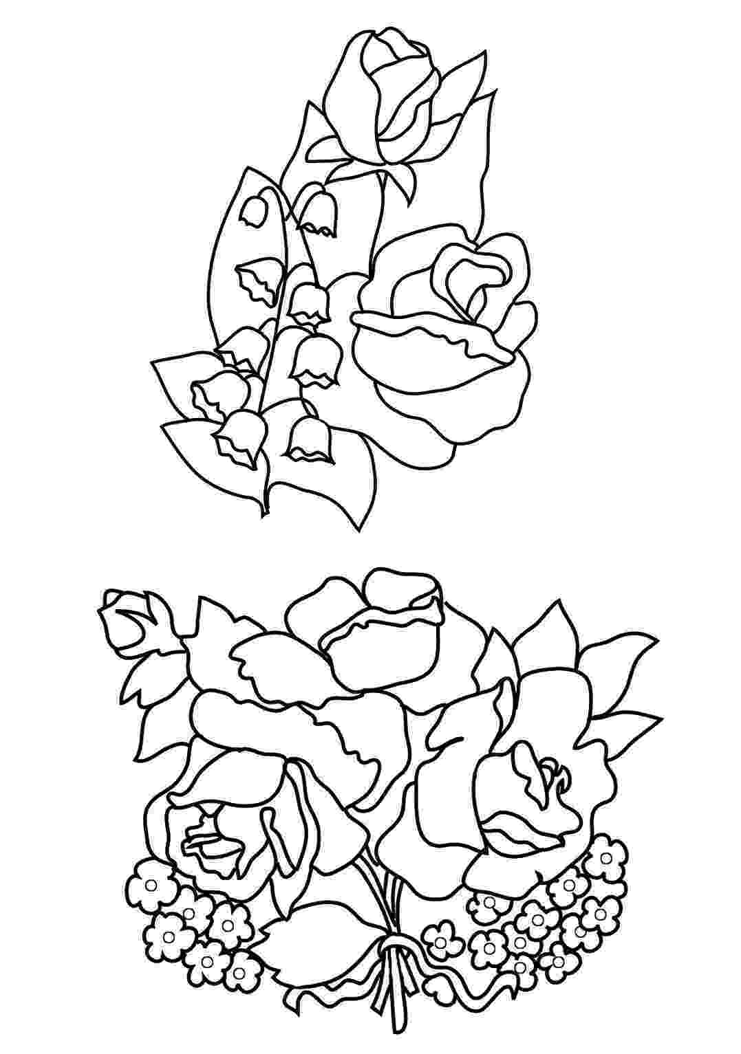 rose flower coloring pages flowers free colouring pages pages rose coloring flower