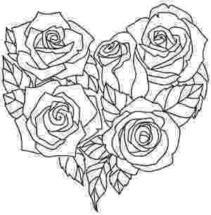 rose pictures to trace a bouquet of roses comes together in a delicate heart rose pictures trace to