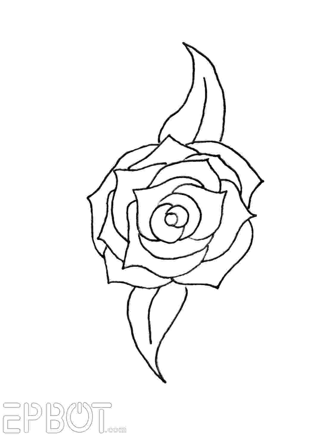 rose pictures to trace how to draw a rose rose pictures trace to