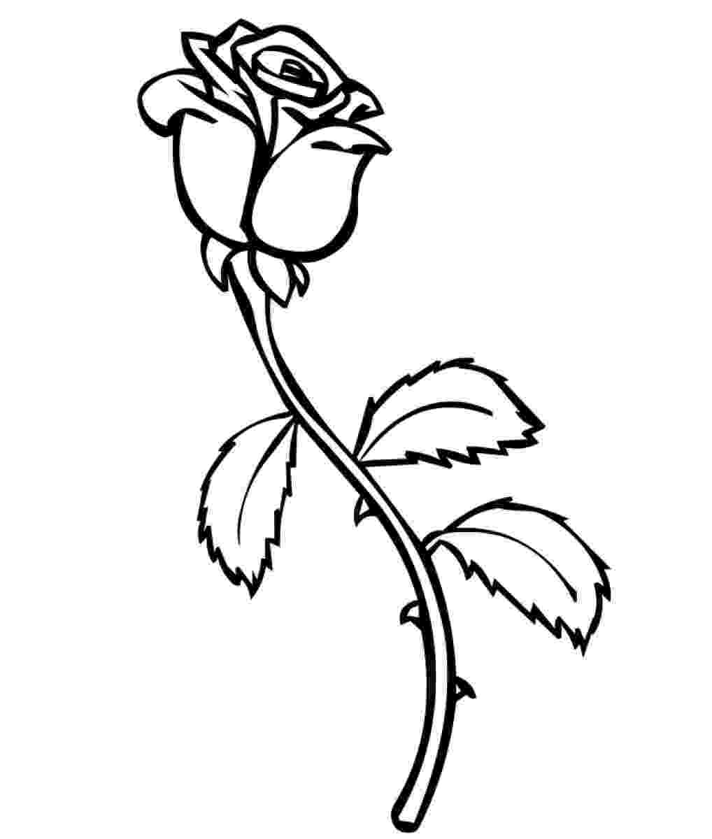 rose print out free printable roses coloring pages for kids out rose print