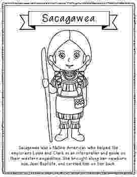 sacagawea coloring page sacagawea coloring page craft or poster with mini sacagawea coloring page