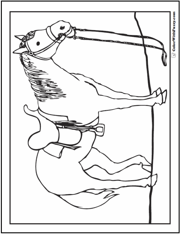 saddle coloring pages horse coloring page riding showing galloping coloring saddle pages