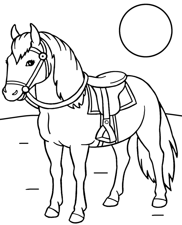 saddle coloring pages printable coloring page horse with a saddle pages coloring saddle