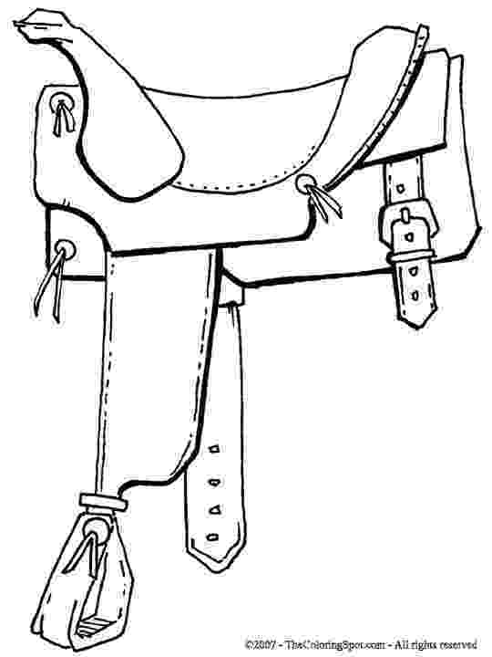 saddle coloring pages saddle coloring page free printable coloring pages coloring pages saddle