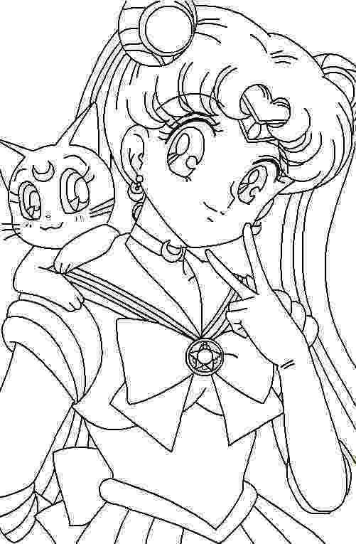 sailor moon coloring pages free sailor moon coloring pages for kids sailor moon moon sailor pages coloring