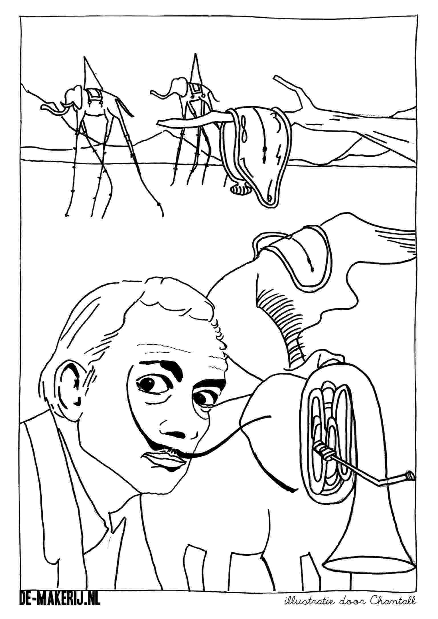 salvador dali coloring pages salvador dali and salvador dali on pinterest dali salvador coloring pages