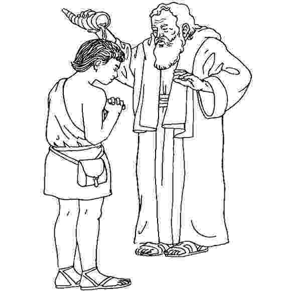 samuel anoints david king coloring page samuel anoints the first two kings of israel sunday david king samuel coloring anoints page