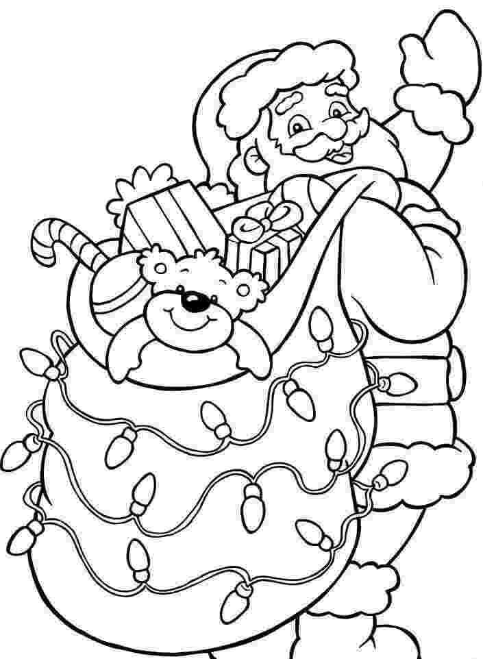 santa checking his list 40 printable christmas coloring pages you39ve never seen before santa checking list his