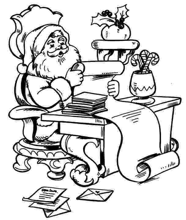 santa checking his list santa checking his list christmas coloring pages printable santa list his checking