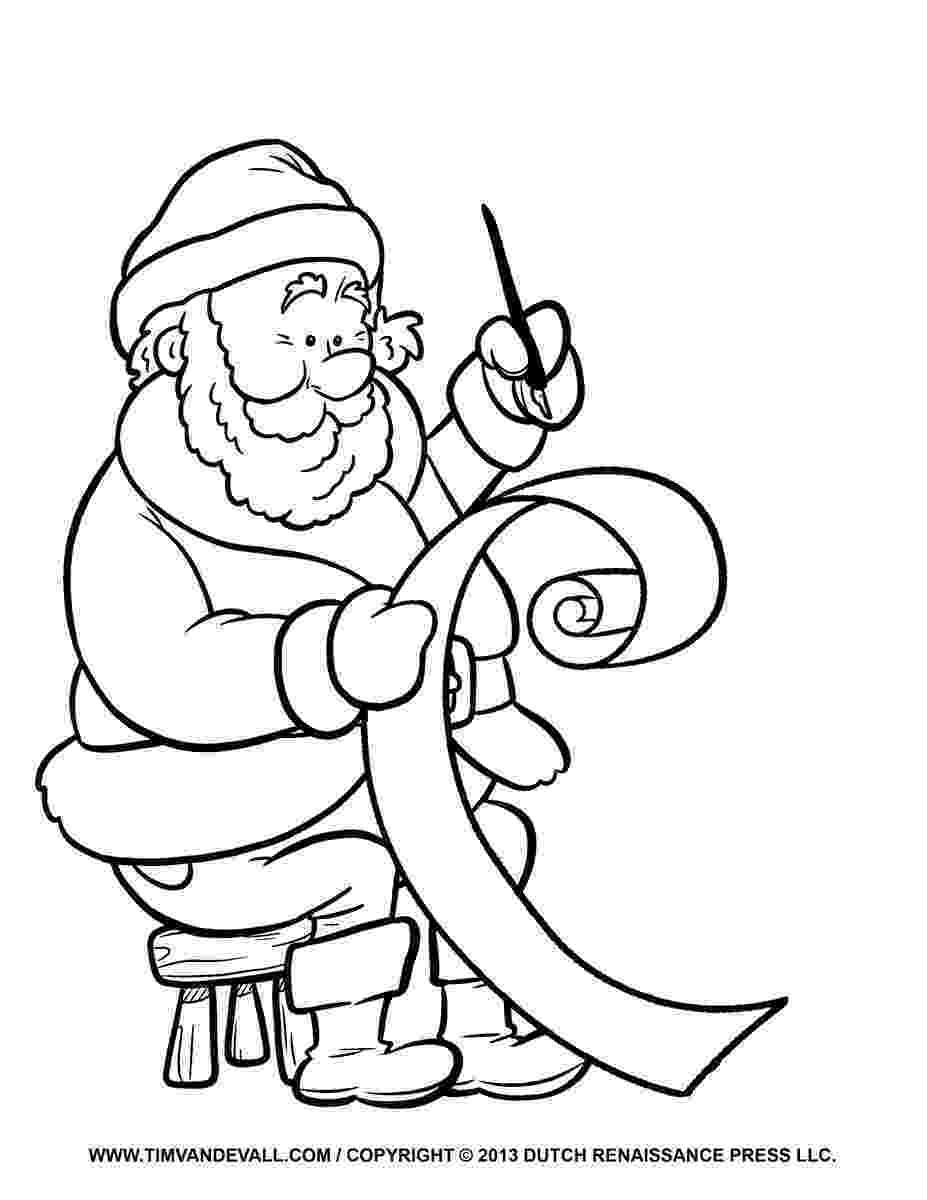 santa checking his list santa checking his naughty and nice list clipart royalty santa list his checking