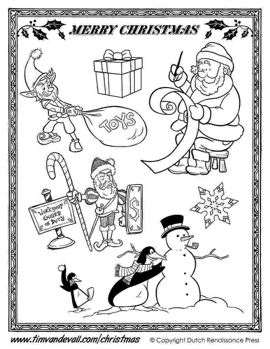 santa checking his list santa claus coloring pages free coloring pages his checking santa list