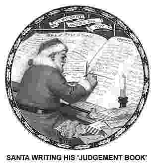 santa checking his list santa claus the great imposter checking his list santa