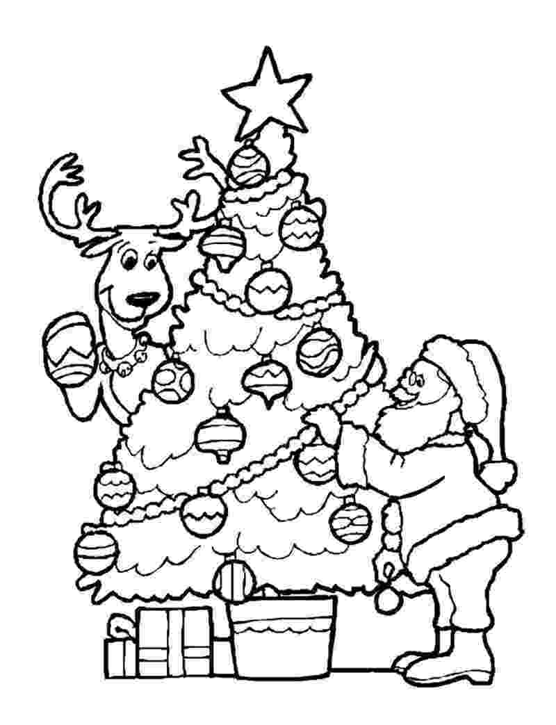 santa checking his list santas coloring pages list his santa checking
