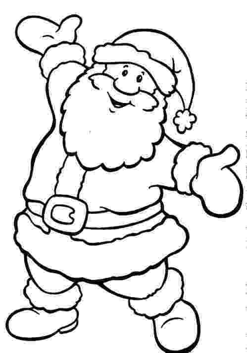 santa claus images for colouring happy santa claus christmas coloring pages coloring for colouring claus santa images