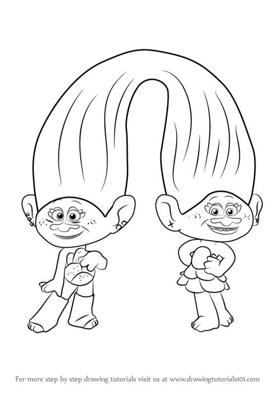 satin and chenille trolls coloriage poppy with satin and chenille from trolls dessin trolls and chenille satin