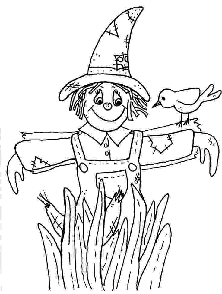 scarecrow coloring page free printable fall coloring pages for kids scarecrow coloring page