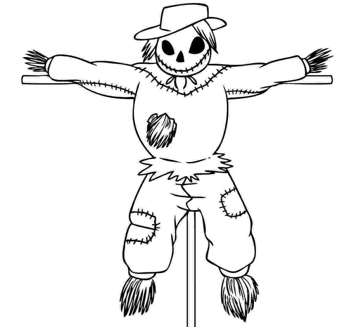 scarecrow coloring page free printable scarecrow coloring pages for kids coloring scarecrow page