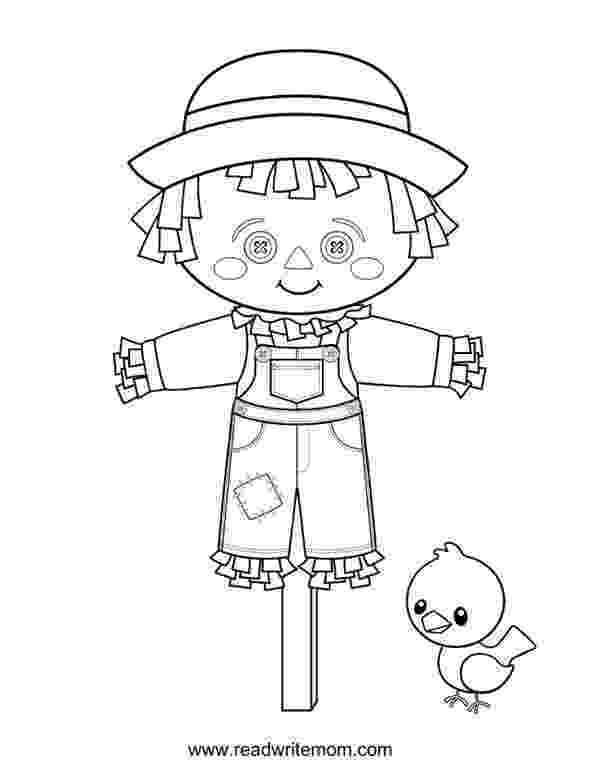 scarecrow coloring page printable fall coloring pages imom coloring page scarecrow
