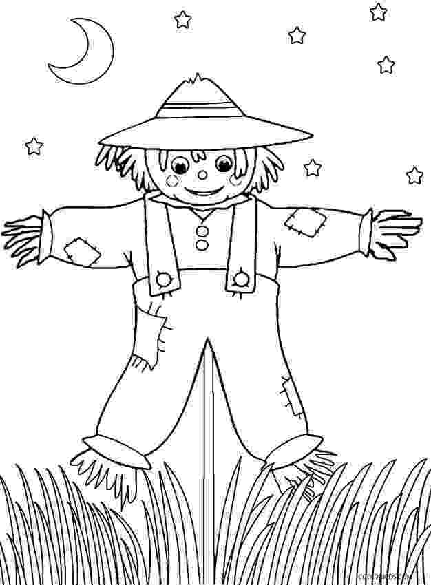 scarecrow coloring page printable scarecrow coloring pages for kids cool2bkids coloring page scarecrow