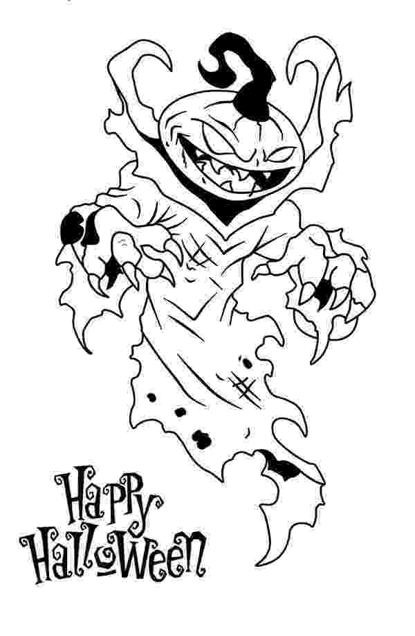 scary pumpkin coloring pages happy halloween from scary pumpkin coloring page pages scary coloring pumpkin