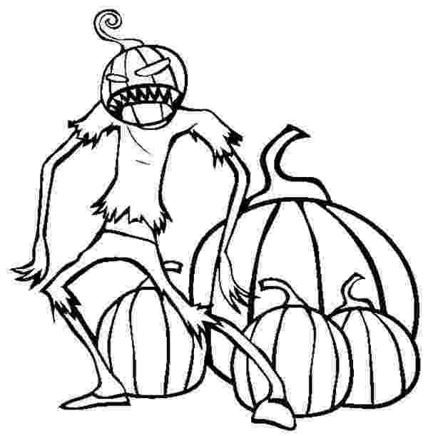 scary pumpkin coloring pages scary pumpkin creature coloring page coloring sky pages pumpkin scary coloring