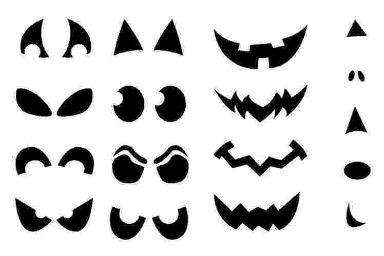 scary pumpkin faces printable pumpkin carving cutouts for halloween pumpkin faces scary
