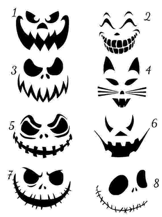scary pumpkin faces this is a listing for a jack o lantern scary faces vinyl faces scary pumpkin
