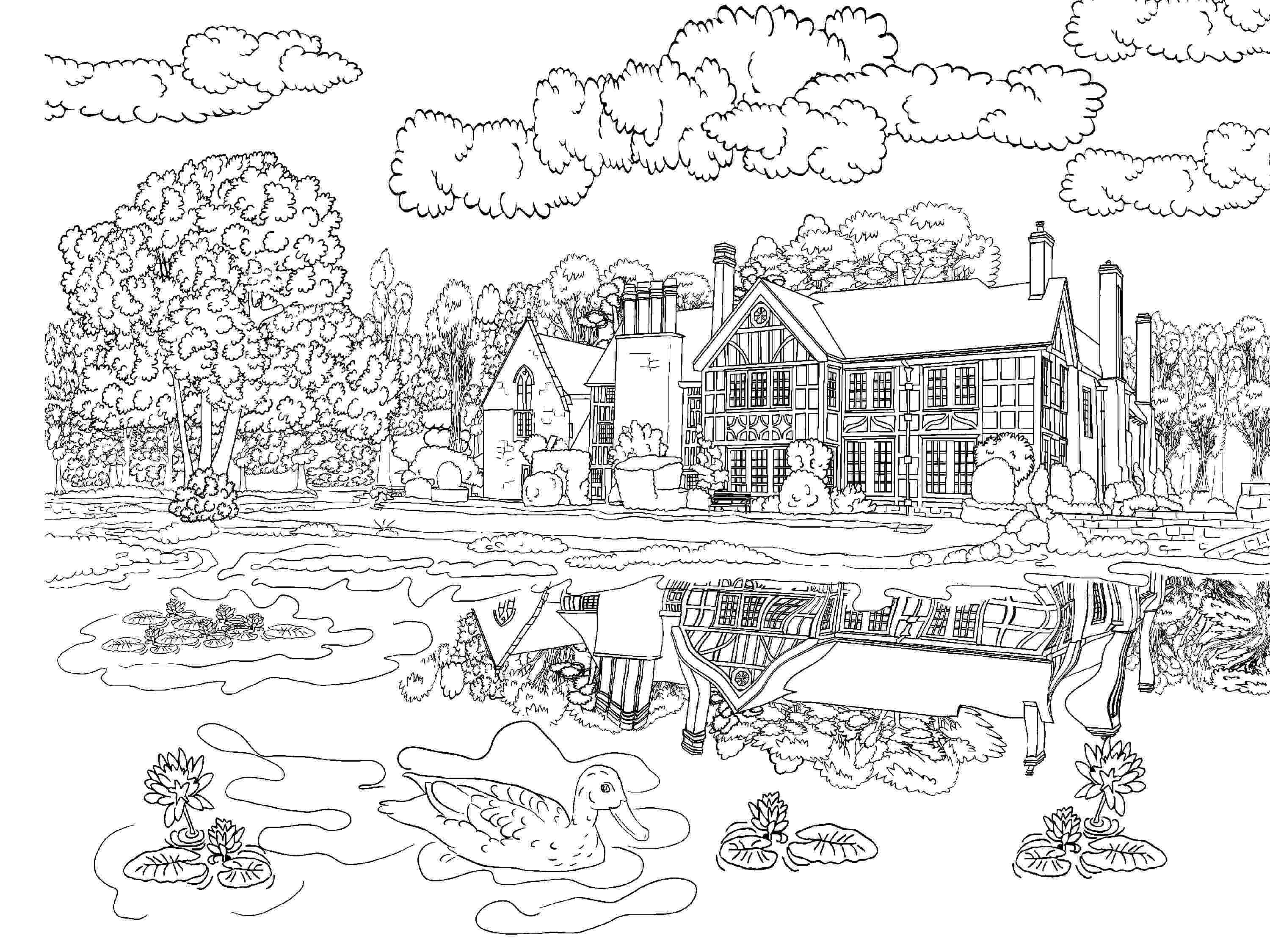 sceneries pictures for colouring beautiful scenery colouring pages in the playroom sceneries pictures colouring for